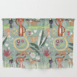 Rain forest animals 001 Wall Hanging
