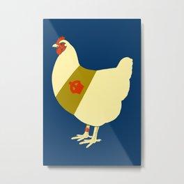 Decorated war chicken Metal Print