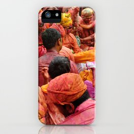 Holi, Mathura, India iPhone Case