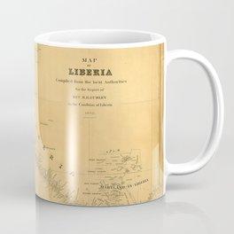 Map Of Liberia 1850 Coffee Mug