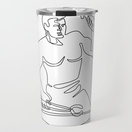 Blacksmith Hammer Continuous Line Travel Mug