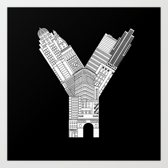 Y - from NYC Art Print