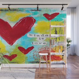 KINDNESS IS LOVE Wall Mural