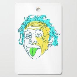 Einstein Line Art | Painting | Print | Poster | Albert Einstein Tongue Out Cartoon Cutting Board
