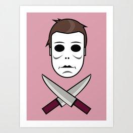 Myers Head Art Print