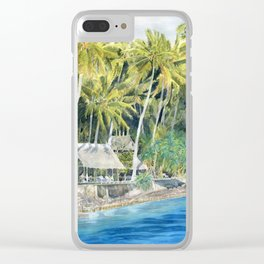 Tropical Island Clear iPhone Case