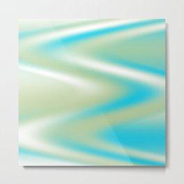 Aqua and Sage Swirl Metal Print