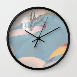 Pastel Dragon Wall Clock