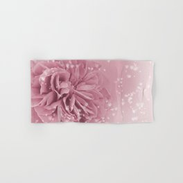 Light Pink Rose with hearts #1 #floral #art #society6 Hand & Bath Towel