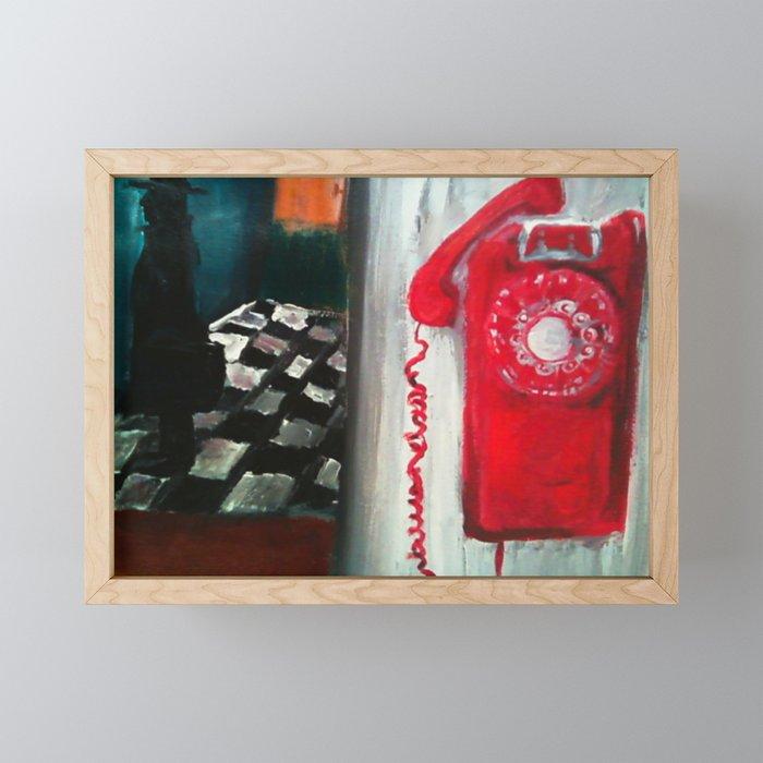 Red Telephone (Francis Last Train) Framed Mini Art Print