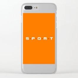 Sport Hero Dynamic Style Orange Clear iPhone Case