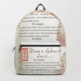 """Dream It, Believe It....Live It"" [vintage inspired] Art Print Backpack"