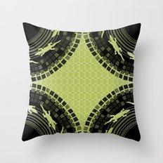 Alligator Mosaic Medallion Throw Pillow