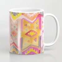 kilim Mugs featuring Kilim Me Softly in Pink by Bee&Lotus