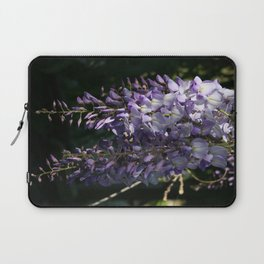 Wisteria With Garden Background Laptop Sleeve