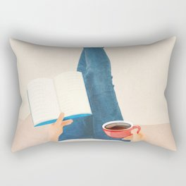 Morning Read Rectangular Pillow