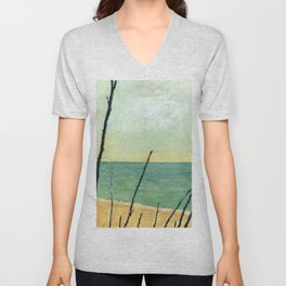 Branches on the Beach Unisex V-Neck
