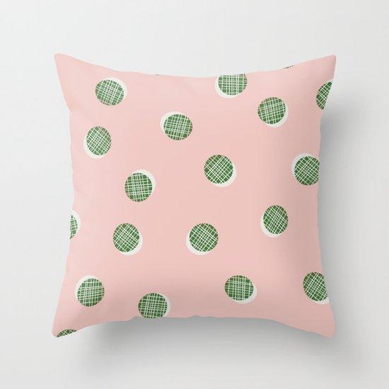 Mixed Dots - in Peach Throw Pillow