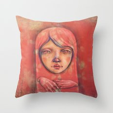 The Ghost in Pink Throw Pillow