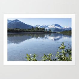 Placer River at the Bend in Turnagain Arm, No. 1 Art Print