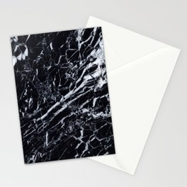Marble Black Texture Stationery Cards