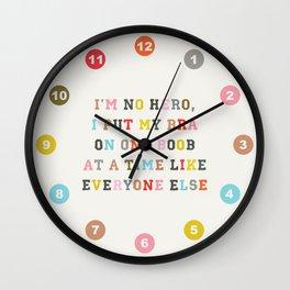 No Hero Wall Clock