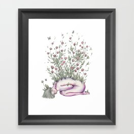 """From my rotting body, flowers shall grow, and I am in them, and that is eternity."" Framed Art Print"