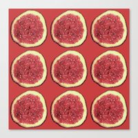 fig Canvas Prints featuring fig by Panic Junkie