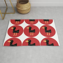 red smiling duck Rug