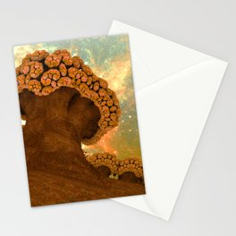 Broccoli Planet in Fall Stationery Cards