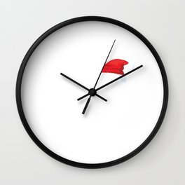 Ho To The 3rd Power - Santa Math Wall Clock