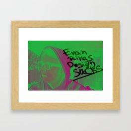 Evan Rivas Design Sucks Framed Art Print