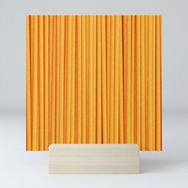 Spaghetti, pasta texture Mini Art Print