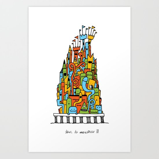 Monster Tower III Art Print
