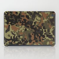 david fleck iPad Cases featuring Fleck Tarn Camoflauge  by Derek Boman
