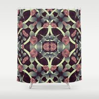 tiffany Shower Curtains featuring Tiffany rose by kociara