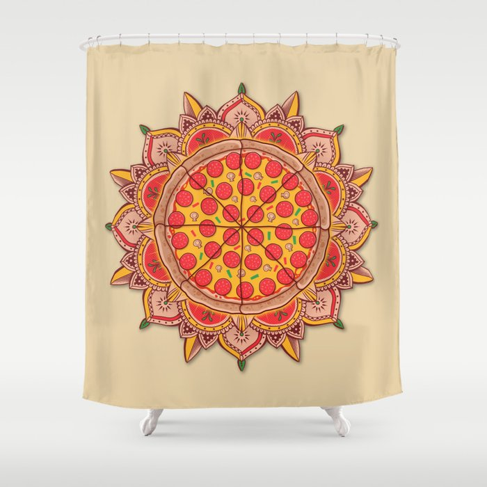 Sacred Pizza Shower Curtain