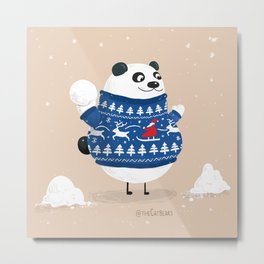 Christmas Panda - The Catbears Metal Print
