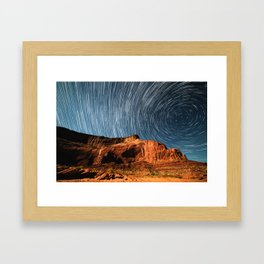 Stars on the Cliffside Framed Art Print