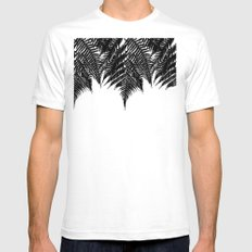 Fern Fringe White SMALL Mens Fitted Tee