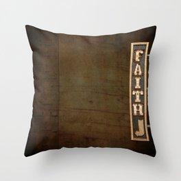 FAITH BILLBOARD Throw Pillow