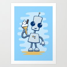 Ned's Ice Cream Art Print