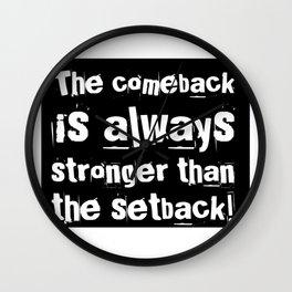 The Comeback Wall Clock