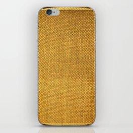 Burlap texture look iPhone Skin