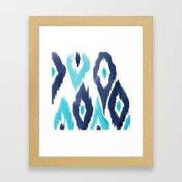 Malibu Ikat Framed Art Print