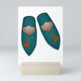 Kilim & Babouches Mini Art Print