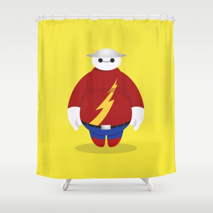 The Flash X Baymax Flashmax Shower Curtain By Jakemaps