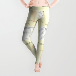 Library Book Date Due Card Leggings