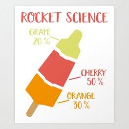 Rocket Science Art Print