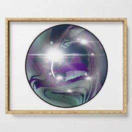Rainbow Fluorite Crystal Ball Serving Tray